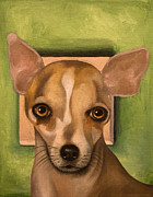 Chihuahua Paintings - Sophia by Leah Saulnier The Painting Maniac