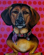Dachshund  Art Mixed Media - Sophia - My Rescue Dog Extrodinare by Grace Liberator