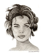 Note Cards Drawings Prints - Sophia Sexy Sultry and Gorgeous Print by Jack Pumphrey