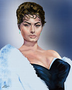 Movie Star Paintings - Sophia - Total Package by Reggie Duffie