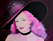 Hat Lady Framed Prints - Sophisticated Lady - Hedy Lamarr Framed Print by Shirl Theis