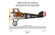 Air Wing Graphics Prints - Sopwith Aviation Camel Print by Arthur Eggers