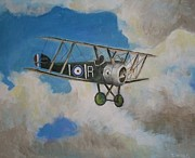 Wwi Painting Metal Prints - Sopwith Metal Print by Daniel King
