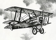 Fighter Drawings - Sopwith F.1 Camel 1917 by James Williamson