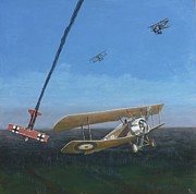 Biplane Paintings - Sopwith by Mr Dill