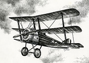 Print Drawings Framed Prints - Sopwith Triplane 1917 Framed Print by James Williamson