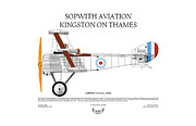 Aircraft Artist Framed Prints - Sopwith Triplane Framed Print by Arthur Eggers