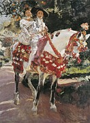 Youthful Prints - Sorolla, Joaquín 1863-1923. Portraits Print by Everett