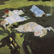 1901 Prints - Sorolla, Joaquín 1863-1923. The Nap Print by Everett