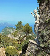 Roman Statue Prints - Sorrento Peninsula From Mt Solaro Capri  Print by Marilyn Dunlap