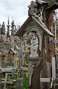 Rosary Posters - Sorrowful Christ Lithuania Hill of Crosses Poster by Mary Lee Dereske