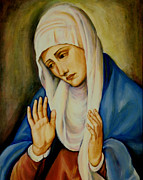 Immaculate Heart Posters - Sorrowful Mother after Titian Poster by Sheila Diemert