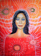 Native American Spirit Portrait Art - Sosquaz - spirit guide by Lila Violet