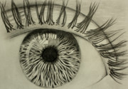 Eyes Detail Drawings - Soul Centroid by Ted Castor