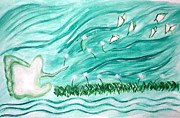 Bird Paintings - Soul Flying by Bird