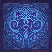 Soul Mates - Blue Print by Cristina McAllister