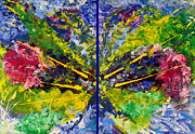 Impasto Oil Paintings - Soul Mates Diptych by Julia Apostolova