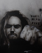 Celebrities Art - Soul Mind Fist by Christian Chapman Art