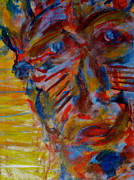 Native American Spirit Portrait Paintings - Soul Searching by Abram Freitas