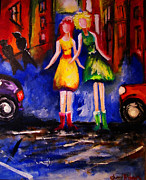 Girls Mixed Media - Soul Sisters by Cheryl Andrews