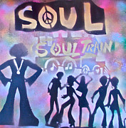 Conscious Painting Posters - Soul Train 1 Poster by Tony B Conscious