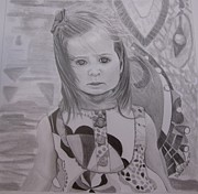 Soulful Eyes Drawings - Soulful Avery by Mellissa Meeks