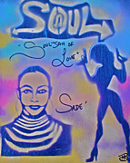 Souljah Of Love Print by Tony B Conscious