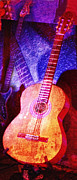 Music Inspired Art Photo Prints - Sound Bites NIche Art guitars Print by Bob Coates