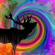 Deer Silhouette Digital Art - Sounds Of LIfe by Sharon K Shubert