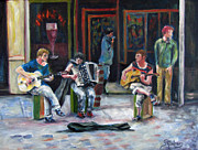 Famous Musicians Painting Originals - Sounds of Paris by Sandra Cutrer