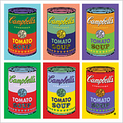 Vector Art Prints - Soup Cans Print by Gary Grayson