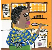 African-american Drawings - Soup Coolers by The Robert Blount Collection