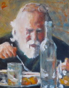 Wine Bottle Paintings - Soup du Jour by Timi Johnson