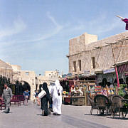 Doha Photo Framed Prints - Souq life Framed Print by Paul Cowan