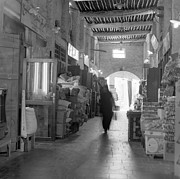 Shopper Prints - Souq Waqif arcades Print by Paul Cowan