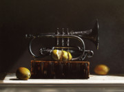 Realist Paintings - Sour Notes by Larry Preston