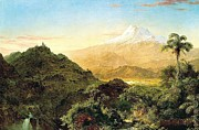 Falls Paintings - South American Landscape by Pg Reproductions