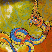 Dragon Painting Originals - South Asian Symbolism  by Corporate Art Task Force