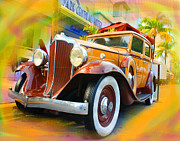 Whitewall Tires Mixed Media Prints - South Beach Classic Print by Doug Walker