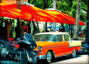 City Streets Photo Prints - South Beach Flavour Print by Karen Wiles