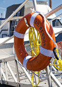 Ropes Prints - South Benson Marina Buoy Print by Stephanie McDowell