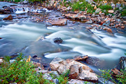 Beautiful Creek Prints - South Boulder Creek Little Waterfalls Rollinsville Print by James Bo Insogna