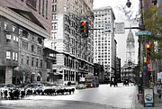 Philadelphia History Prints - South Broad Street Sheep Print by Eric Nagy