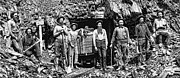 Pioneers Framed Prints - SOUTH DAKOTA MINERS c. 1889 Framed Print by Daniel Hagerman