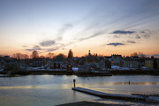 Seacoast Prints - South End at Dusk Print by Eric Gendron