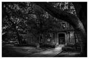 Old Building Framed Prints - South Entry black and white Framed Print by Marvin Spates