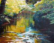 Creek Prints - South Fork Silver Creek no. 3 Print by Melody Cleary