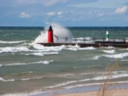 Ann Horn Photos - South Haven Splash by Ann Horn