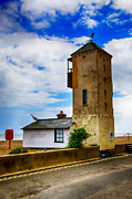 Aldeburgh Prints - South Lookout Tower Aldeburgh Beach Print by Chris Thaxter