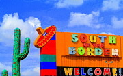 Stop Sign Photos - South Of The Border by Randall Weidner